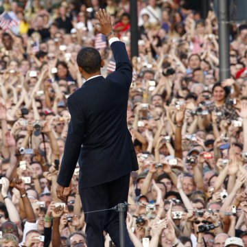 Image: Barack Obama in Berlin in 2008