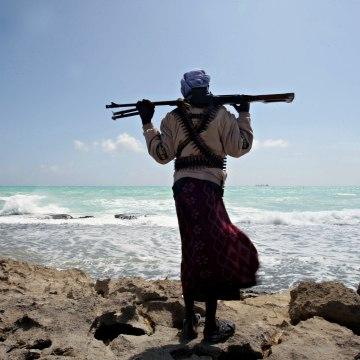 Image: Somali pirate in 2010