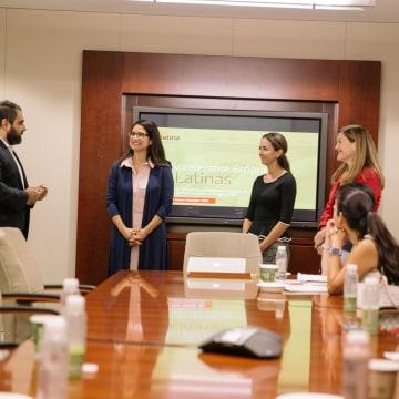 Access Latina Finalists Victoria Flores, Francesca Kennedy, Michelle Perez Kenderish, Lucienne Gigante.