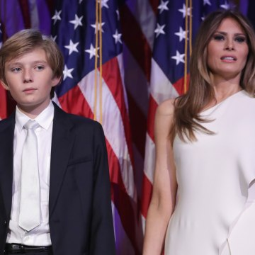 Image: Barron Trump and his mother Melania Trump