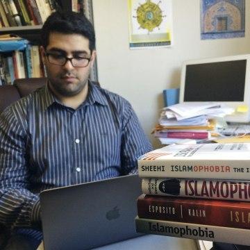 Khairuldeen Makhzoomi works in his office in Berkeley, Calif., Monday, April 18, 2016.