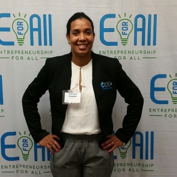 Yohanny Cespedes, an EmparaTodos graduate and CEO of CCK2 - Cleaning Services in Massachusetts.