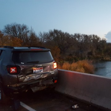 Image: The crash happened on the Interstate 84 bridge between Idaho and Oregon
