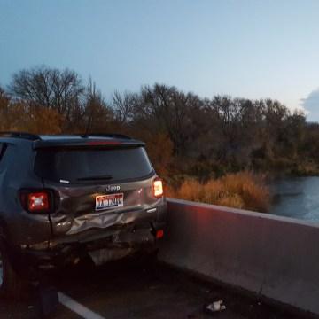 Image: The crash happened on the Interstate 84 bridge between Idaho and Oregon