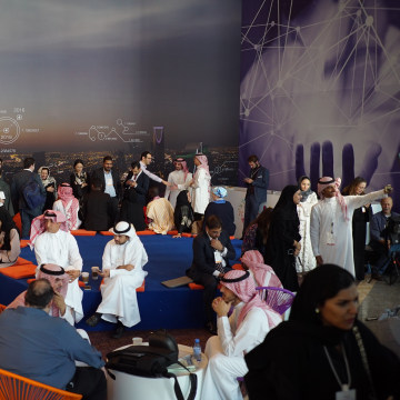 Image: Participants of the MiSK Global Forum mingle