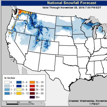 Image: National weather forecast