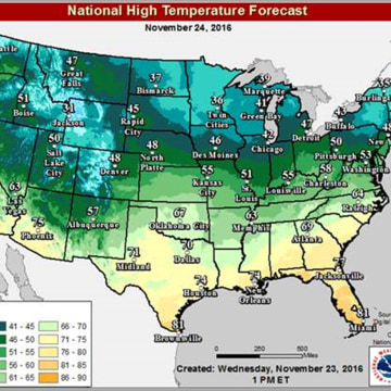 Image: National High Temperature Forecast