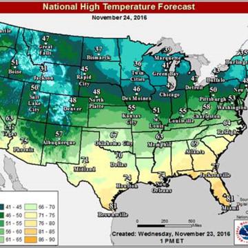Image: National High Temperature Forecast