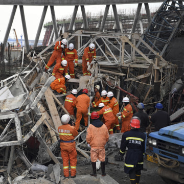 IMAGE: China construction collapse