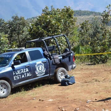 Image: Site where human remains wer found in Zitlala, Mexico