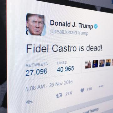 Image: Trump tweets about Castro's death