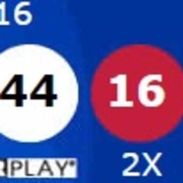 IMAGE: Winning Powerball numbers
