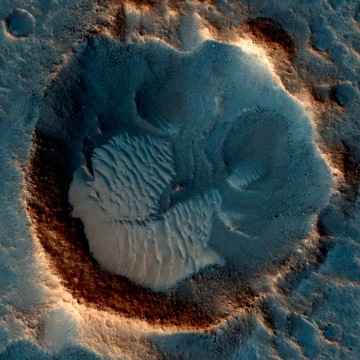 """Image: A location on Mars associated with the best-selling novel and Hollywood movie, """"The Martian"""