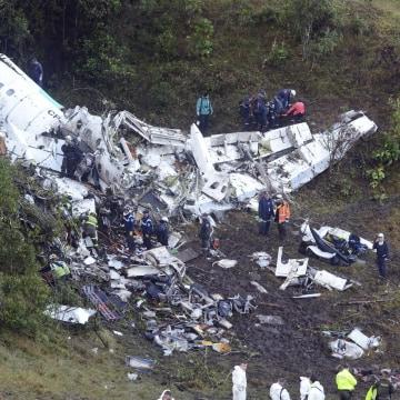 Image: Plane wreckage in Medellin, Colombia