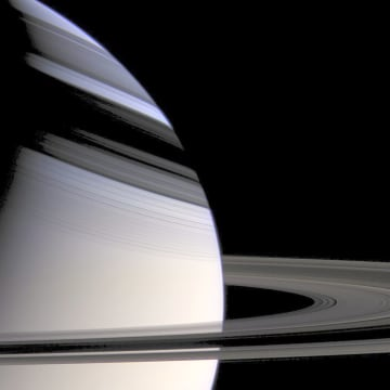Image: Saturn's rings and shadows