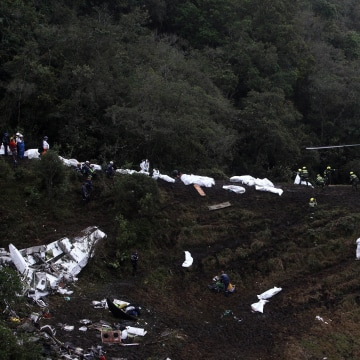 Image: Colombia plane crash