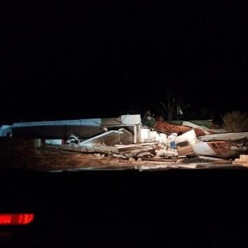 Image: Rosalie building destroyed by tornado in Alabama