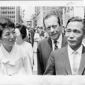 Image: Park Geun-hye's mother and father