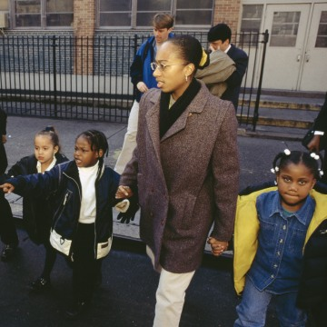 Harlem Teachers and Students on Field Trip