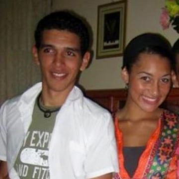 Morgan Radford and her host Javier when she studied abroad in Cuba.