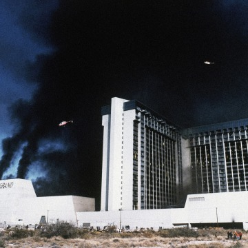IMAGE: MGM Grand Hotel fire