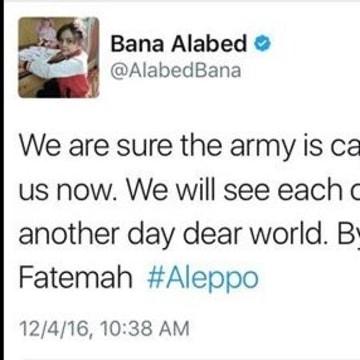IMAGE: Bana Al-Abed's final tweet