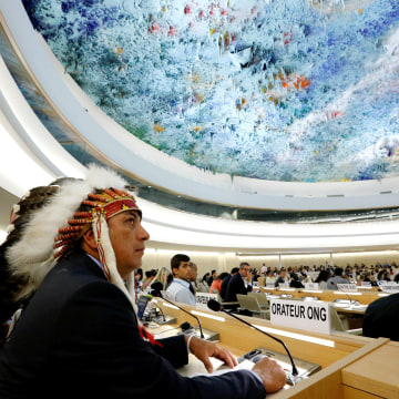 Image: Dave Archambault II chairman of the Standing Rock Sioux tribe