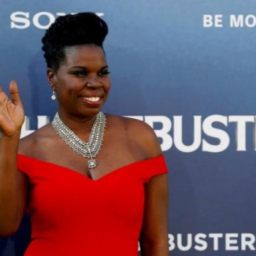 "Cast member Leslie Jones poses at the premiere of the film ""Ghostbusters"" in Hollywood, California"