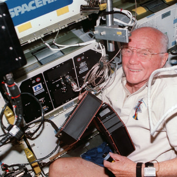 Image: John Glenn in Spacehab
