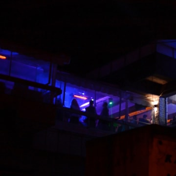 Image: A nightclub in the Macedonian town of Veles where teenagers dabbling in fake news go to party.
