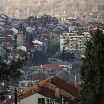 Image: A general view of the town of Veles