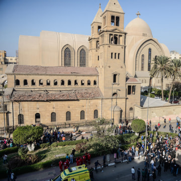 Image: 25 killed in attack near Coptic Cathedral in Cairo