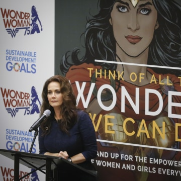 IMAGE: Lynda Carter and Wonder Woman