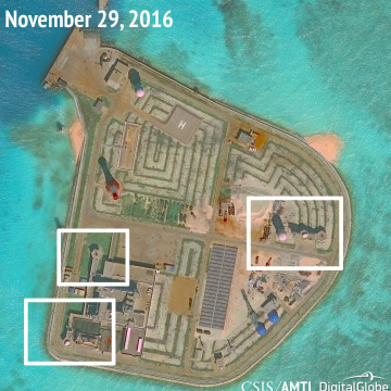 Image: A satellite image released by CSIS Asia Maritime Transparency Initiative