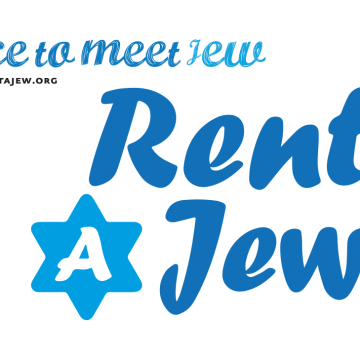 """Image: Postcard for """"Rent A Jew"""" project"""