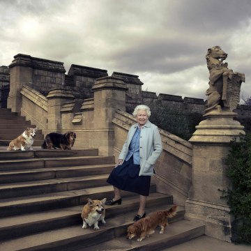 Image: Queen Elizabeth II poses at Windsor Catle
