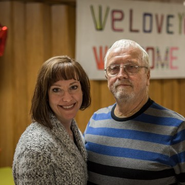 Image: Mandy Martinson and her father, Bill, who visited her every week while she was in federal prison for a methamphetamine offense.