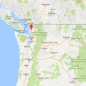 Image: Map showing Mount Vernon, Washington