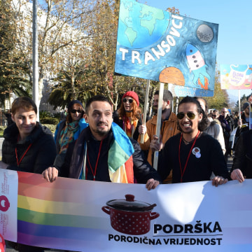 Image: Gay Pride March in Podgorica