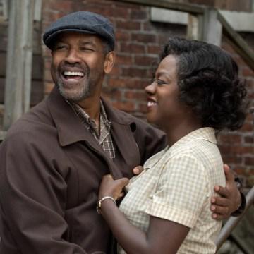 "Image: Denzel Washington and Viola Davis in ""Fences"""