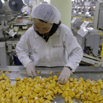Wonton Food Inc. estimates that it produces four million fortune cookies a day.