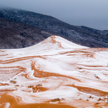 Snow in the Sahara Desert, Ain Sefra, Algeria - 20 Dec 2016