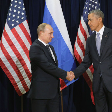 Image: Obama Holds Bilateral Meeting With Russian President Putin At UN