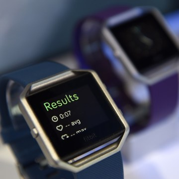 Image: The Fitbit Inc. Blaze fitness tracker