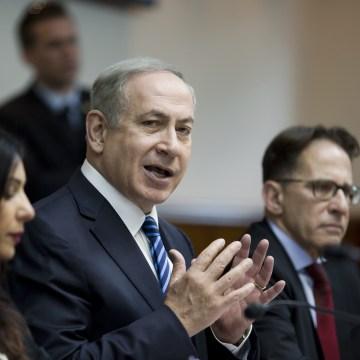 Image: Israeli Prime Minister Benjamin Netanyahu attends the weekly cabinet meeting