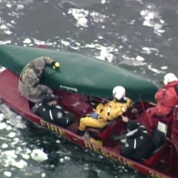 IMAGE: Water rescue on Mill Lake in Walworth County, Wisconsin