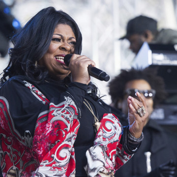 "Image: Kim Burrell performs on NBC's ""Today"" show at Rockefeller Plaza on Dec. 9 in New York."