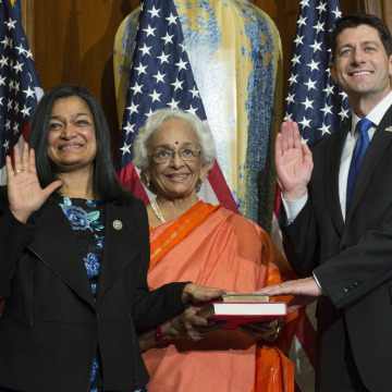 Image: Paul Ryan, Pramila Jayapal