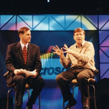 Image: Bill Gates delivered a keynote address at CES 1998.