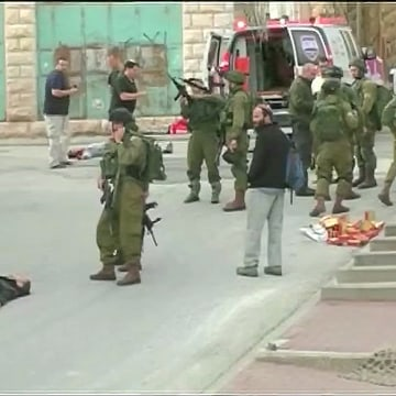 Image: The shooting, in the Hebron area of the West Bank, was captured on video.